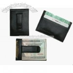 Leather Money Clip and Card Holder by Perry Ellis