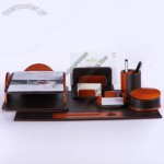 Leather Office Desktop Set with Packing Box