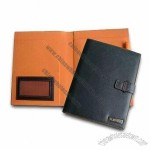 Leather Portfolios with Pen Holder and Rounded Corners