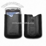 Leather Pouch Case for Blackberry Mobile Phone