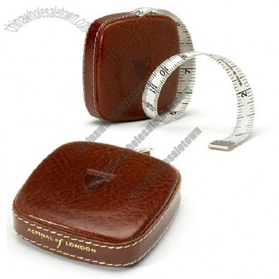 Leather Tape Measure in Antique Brown Italian Calf