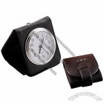 Leather Travel Alarm Clock Pers