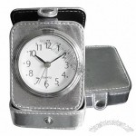 Leather Travel Clock with Alarm