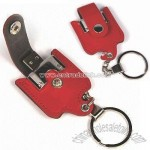 Leather USB Flash Drive with Keychain