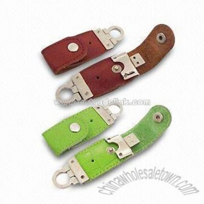 Leather USB Flash Memory Stick