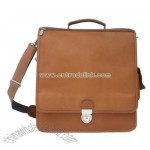 Leather Vertical Business Laptop Briefcase