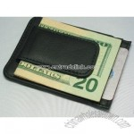 Leather Wallet Megnetic Money Clip