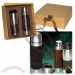 Leather-Wrapped Thermos/Tumbler Set