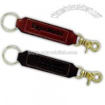Leather double ended key fob