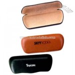 Leather like metal sunglasses case with cloth inner lining