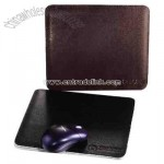 Leather mouse pad with french-turned and perimeter-stitched edges