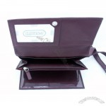 Leatherbay Women's Burgundy Leather Checkbook Wallet