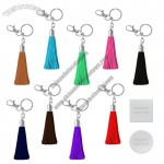 Leatherette Tassel Silver Or Gold Keychains