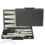Leatherette backgammon set comes with a 15