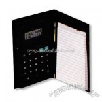 Leatherette organizer with calculator