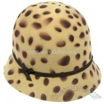 Leopard Cloche bucket hat