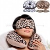 Leopard Sleep Mask & Travel Pillow Set