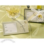 Lets Celebrate Toasting Glass Luggage Tag Favors