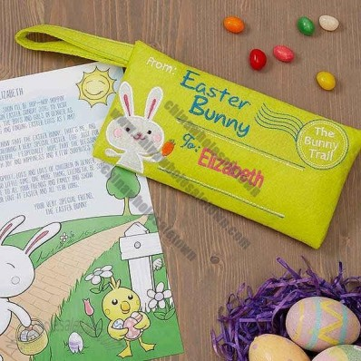 Letter From The Easter Bunny Embroidered Envelope