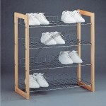 Lexington Wood Storage 4 Tier Shoe Shelf