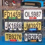 License Frame Plate with LED Message Sign