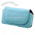 Light Blue Leather Carrying Pouch Case For HP iPAQ Glisten