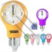 Light Bulb Wall Clock With Auto Light Sensor