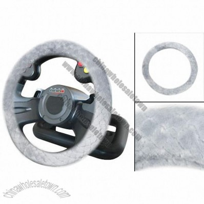 Light Gray Antislip Steering Wheeling Cover Protection for Car