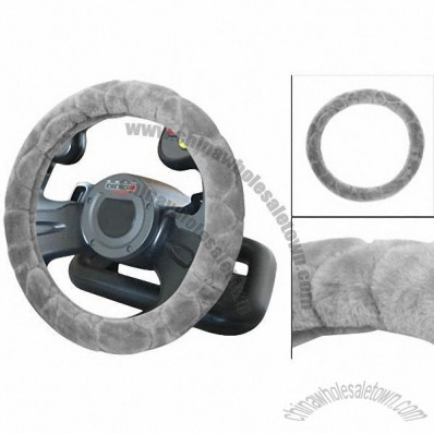 Light Gray Stone Pattern Protecting Steering Wheeling Cover for Vehicle Auto
