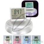 Light Up LED Color Change Digital Alarm Clock with Temperature and Calendar