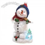 Light Up Snowman Figurine