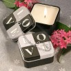 Light for Love Collection LOVE Design Candle Tin Favors