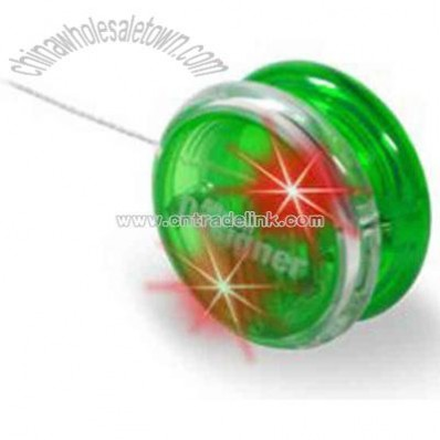 Light up Green yo-yo with Red LED