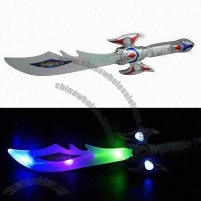 Light-up Sound Sword, Operated by 3 x AAA Battery