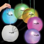 Light up decorator beach ball with rainbow LEDs