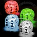 Light up ice cube dice