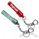 Light up whistle keychain with glowing LED