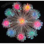 Lighted Shimmering Iridescent Retro Burst Christmas Tree Topper -Multi Lights