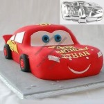 Lightning McQueen Car Shaped Cake Mould