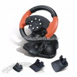 Lightning Racer PS/PS2/PC-USB 3 in 1 Steering Wheel