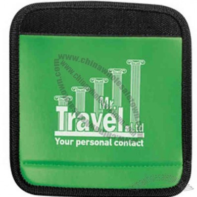 Lime Green - Perfect grabber handle wrap padded luggage handle wrap with ID panel