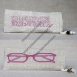Linen Reading Glasses Pouch
