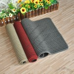 Linen Striped Door Mat