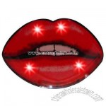 Lips with teeth showing - Flashing pin with love theme