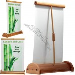 Little Moon Bamboo Roll Up Banner Stand