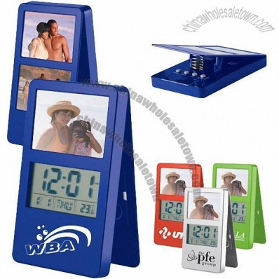Logo Clock with Photo Frame and Clip