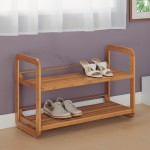 Lohas 2 Tier Bamboo Stackable Shoe Rack