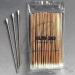 Long 6-inch Clean room Eco-friendly Cotton Swabs with Wooden Stem