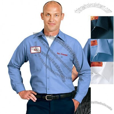 Long Sleeve Custom Industrial Work Shirt
