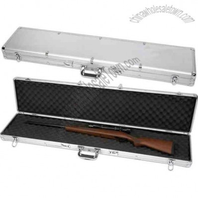 Long aluminum gun case.